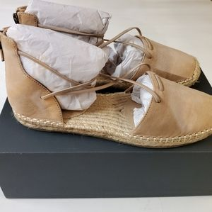 Eileen Fisher 7.5 Latte Tumbled Nubuck brown
